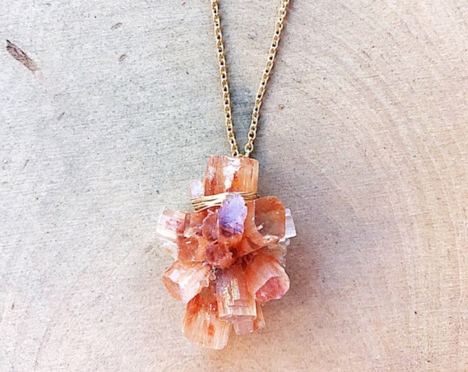 Healing Crystal Aragonite Necklace- Choice of Silver or Gold