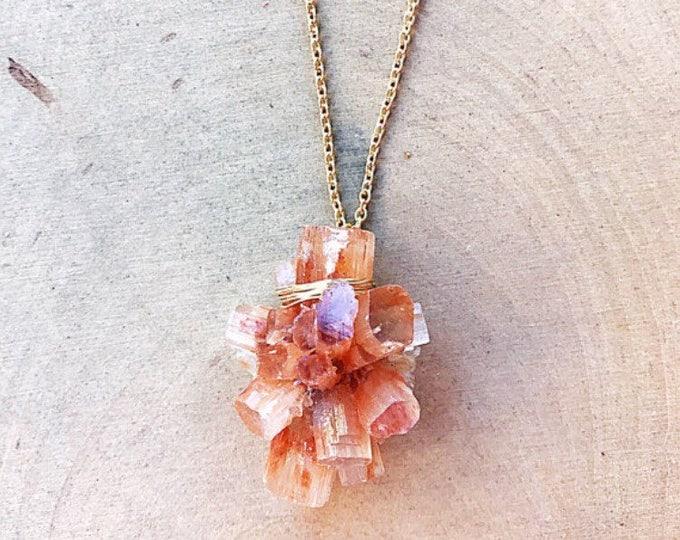 Healing Crystal Aragonite Necklace