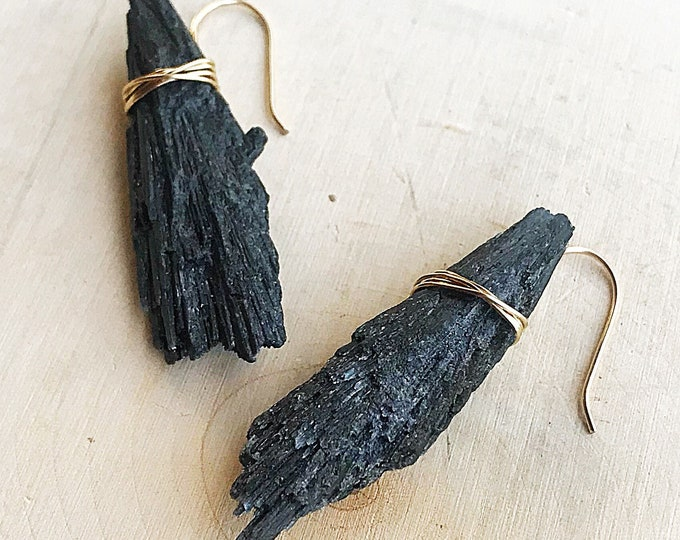 Healing Kyanite Crystal Earrings