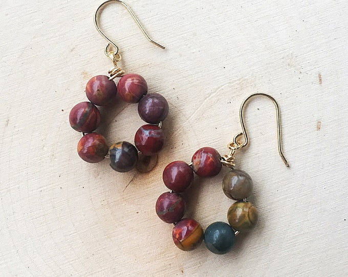 Healing Crystal Jasper Earrings