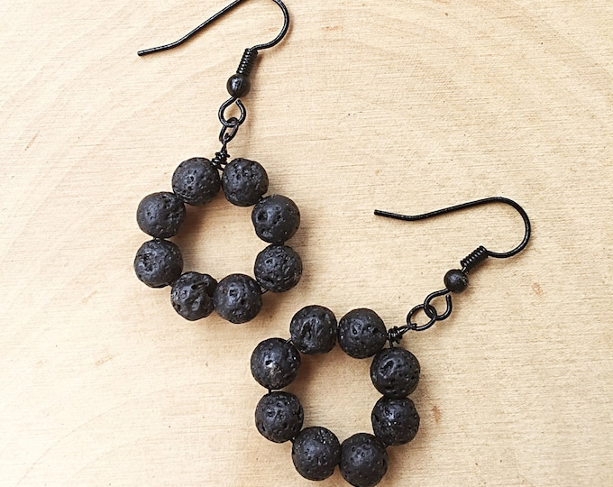 Lava Hoop Earrings