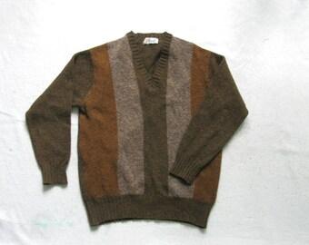Pringle Brown Green Gray Wool Sweater