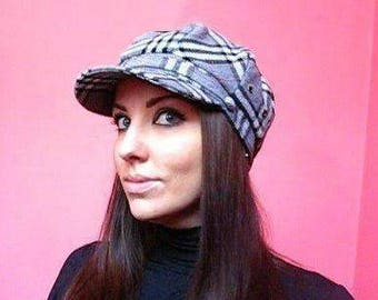 Women's Newsboy Cap Checkered Cap