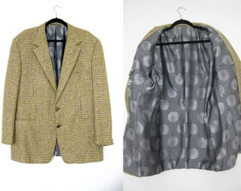 GIANNI VERSACE Couture Cashmere Houndstooth Blazer Jacket
