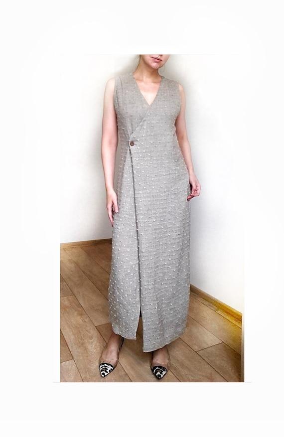 Linen maxi dress by Mari Philippe, Linen Dress, Ma