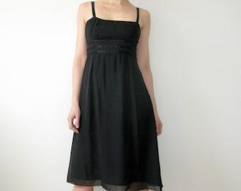 1.2.3 Paris Black silk Dress