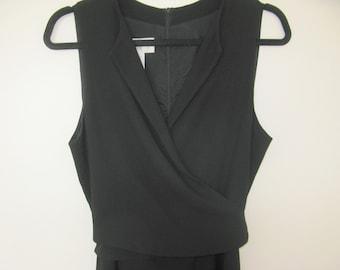 Black Wrap Around Top Dress