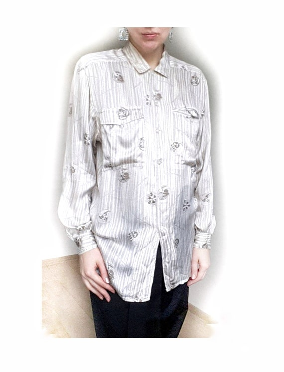 ESCADA Silk Blouse, Escada Top, Pure Silk Blouse,