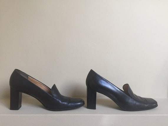 CELINE Paris square-ended pumps Made in Italy cour