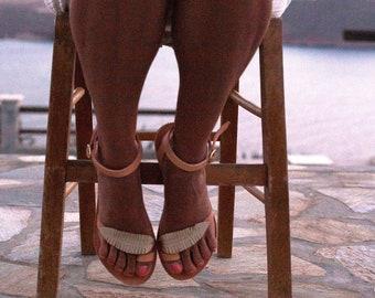 Silver sandals, leather sandals, women sandals, ankle strap sandals, women shoes, roman sandals, leaf sandals.