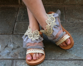 Silver sandals girl, Kids sandals, Girls leather sandals, Bridesmaid sandals, Gold kids sandals, Girls shoes.