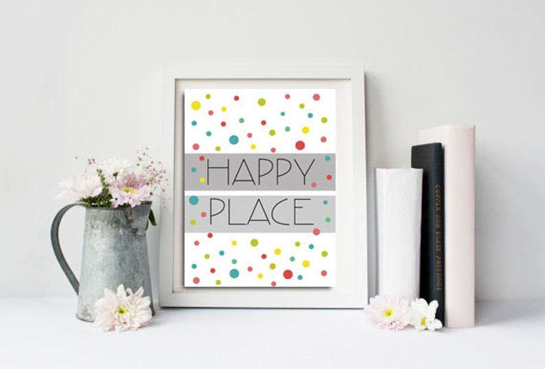 Happy place Confetti Digital download Printable kids gift image 0