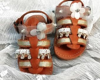 Sandals toddler girl, Kids gladiator shoes, Sandals for girls, Baptism shoes girl, Christening Baptism, Beige baby shoes, Toddler bridesmaid