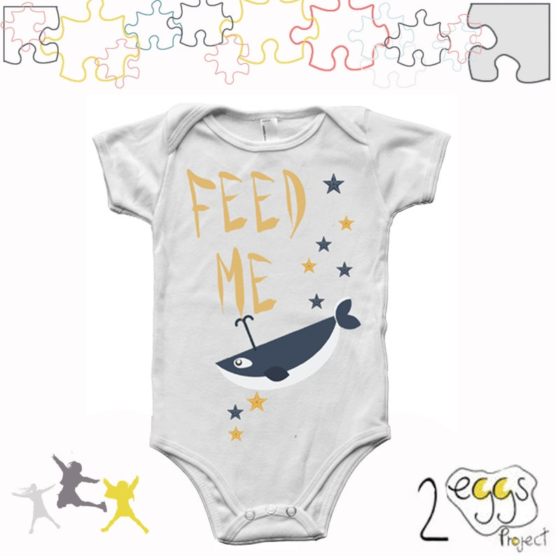 9085e222a9bd Whale baby clothes feed me baby onesie gift cute baby boy