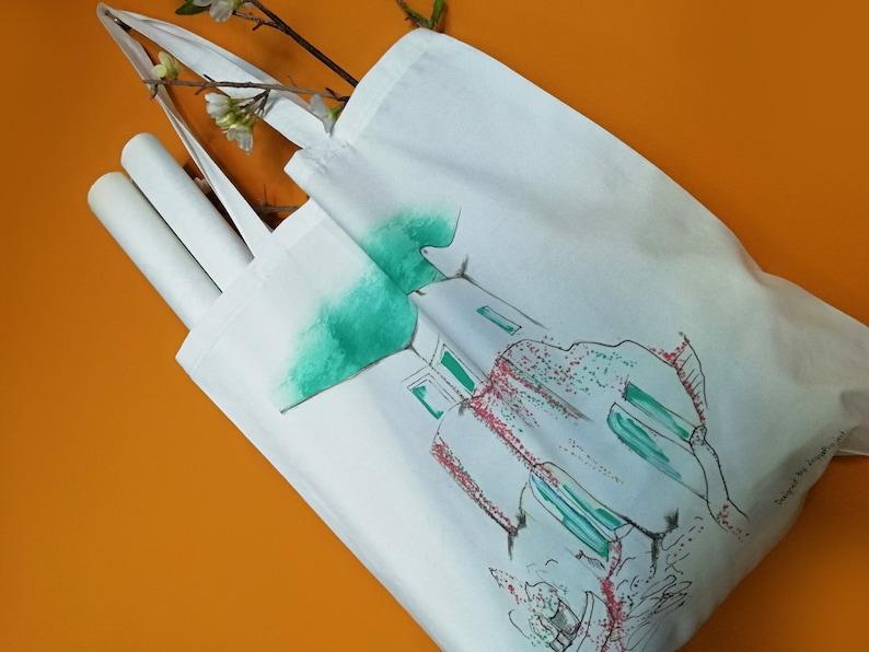 Greek tote bags  Greek Market Tote made in Greece. image 0