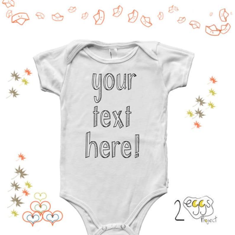 a1c1f53406a9e Votre texte ici bébé Grenouillère Body bébé personnalisé