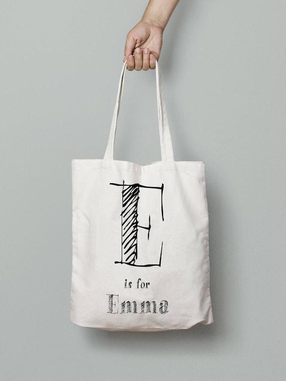 Reusable Shopping Bag Custom Names Tote Bag Customised Shopping Bag Personalized Tote