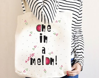 """Watermelon summer bag / """"One in a melon"""" carrying bag."""