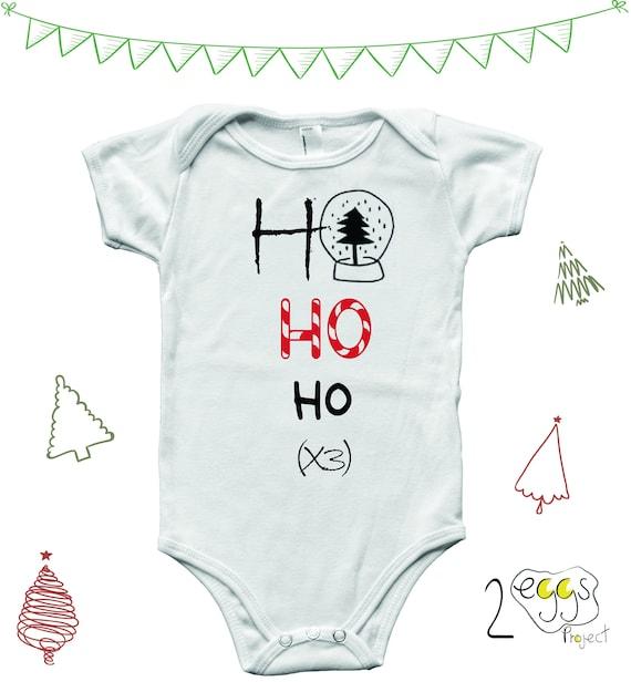 92b1c91ee Santa Claus onesie Baby 1st Christmas bodysuit with Hohoho