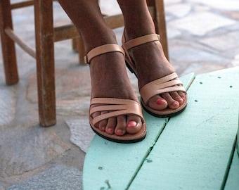 Griechische sandalen, roman sandals, natural color sandal, grecian sandals, handmade sandals, strappy sandals.