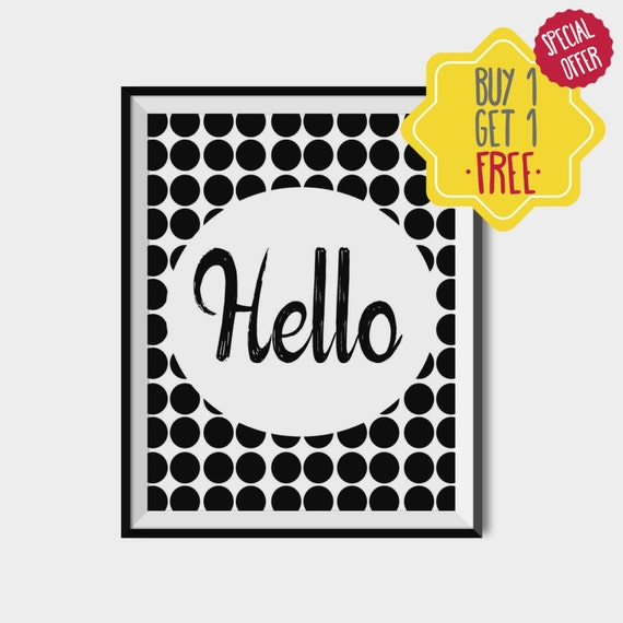 Entryway And Free Printables: Items Similar To Hello Printable, Entry Way Prints, Quotes