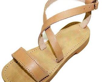 Soft soled Strappy sandals for baby girl/ Gladiators Kids Greek sandals made of 100% Genuine Leather/ sandales cuir enfant