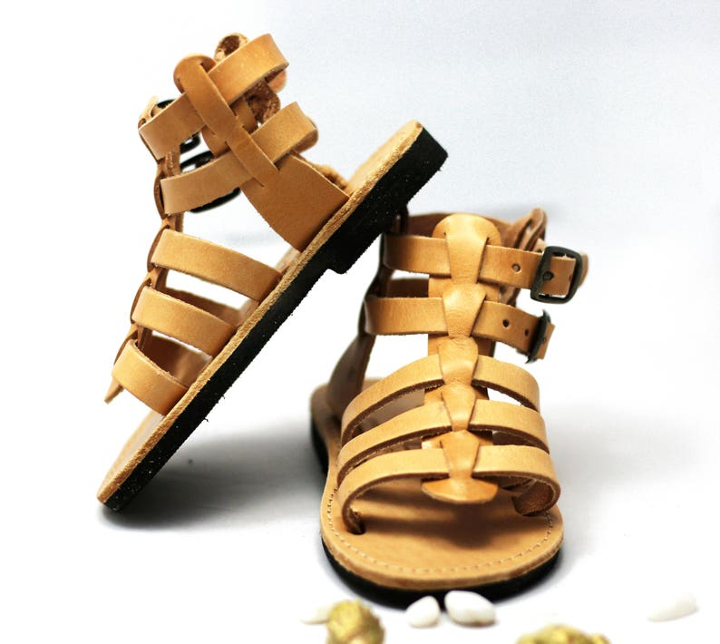 Sandals for kids  Brown leather sandals for baby boy make image 0