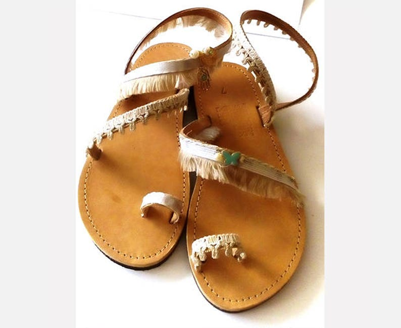 Woman leather sandals  Bridal sandals made in Greece make image 0