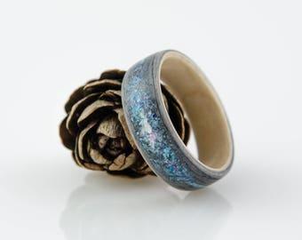 GREY OAK GALAXY bentwood ring