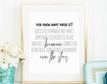 Music is, August Rush, digital download, music quote, August Rush quote, printable music quote, music art, August Rush art, harmony quote