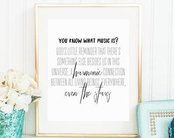 Music is, August Rush, digital download, music quote, August Rush quote, printable music quote, music art, August Rush art, harmony quote
