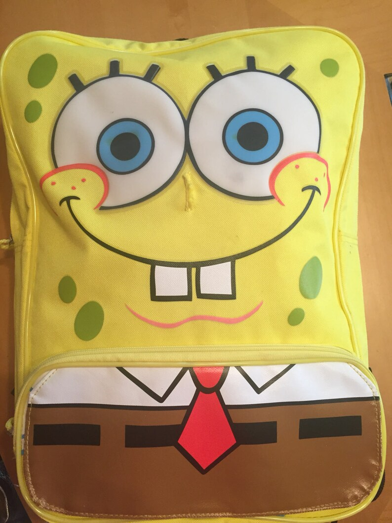 Bookbag EDM Rave Bag Club Kid SpongeBob Backpack 90s Vintage Cyber FUN!