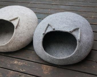 Cat cave grey Cat bed Pet bed Cat furniture Pet supplies free shipping