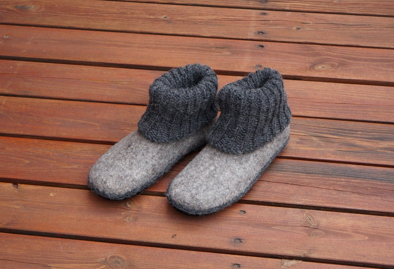 b2e846e522ca0 Felt slippers Felted clogs Organic slippers Slippers for women Socks