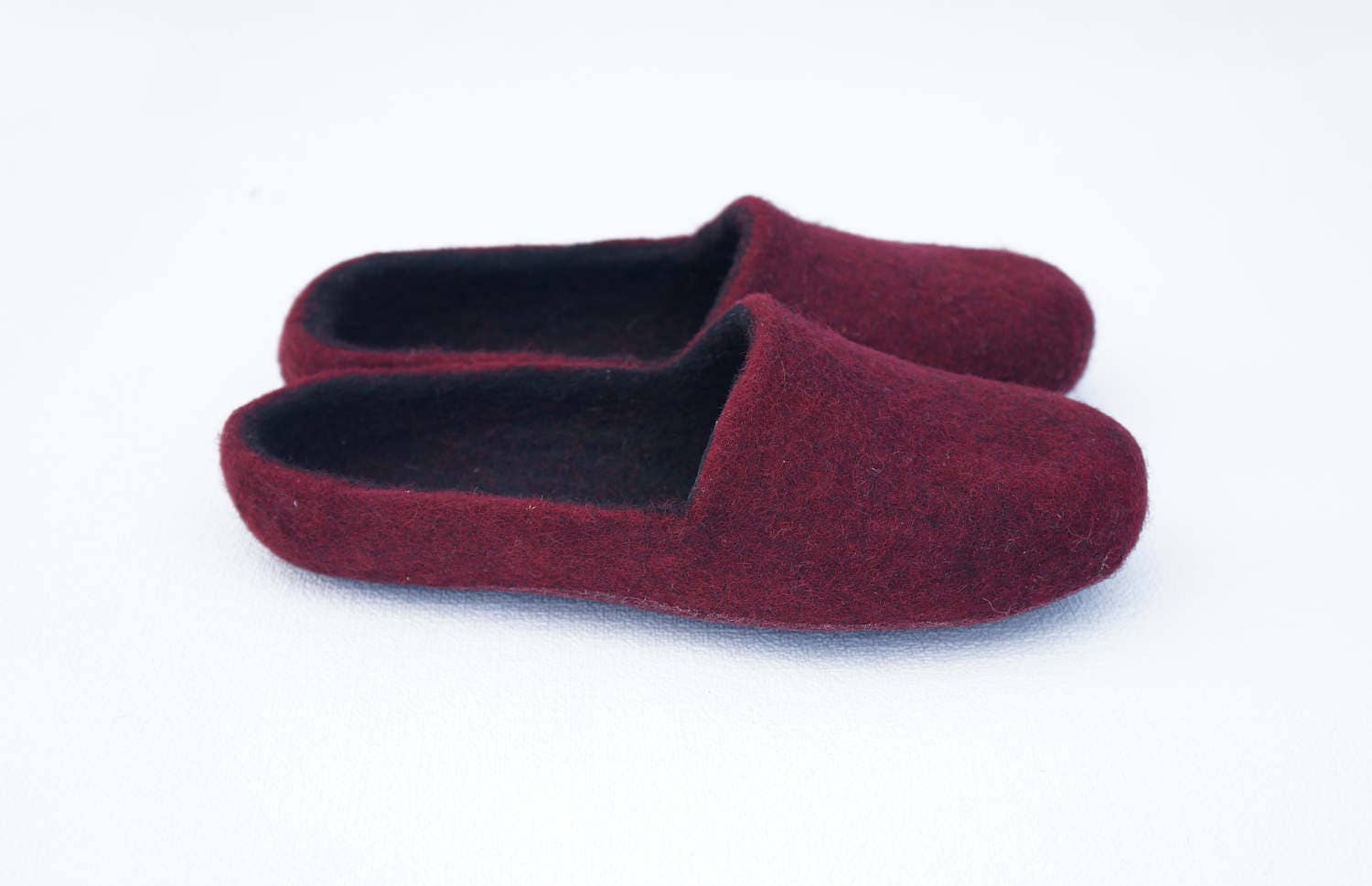 b823ad1e568aa Basic felted clogs 28 colors Organic felted slippers Women wool clogs Women  slippers Brown orange slippers Slippers Women gifts