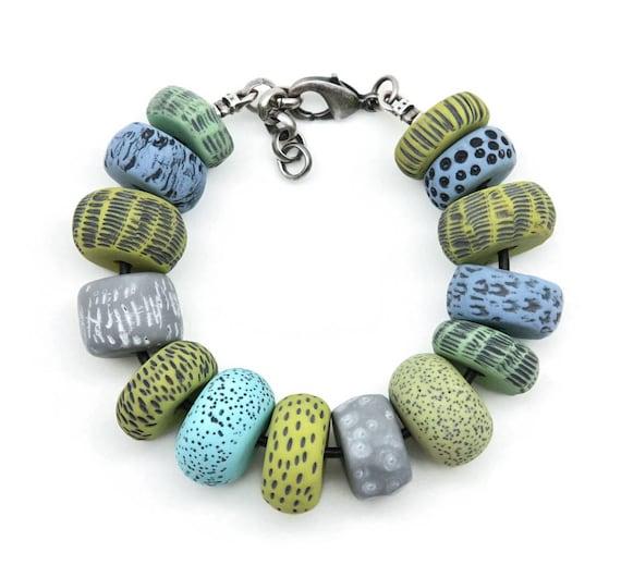 citron vert et bleu ciel bijoux g om trique bracelet. Black Bedroom Furniture Sets. Home Design Ideas