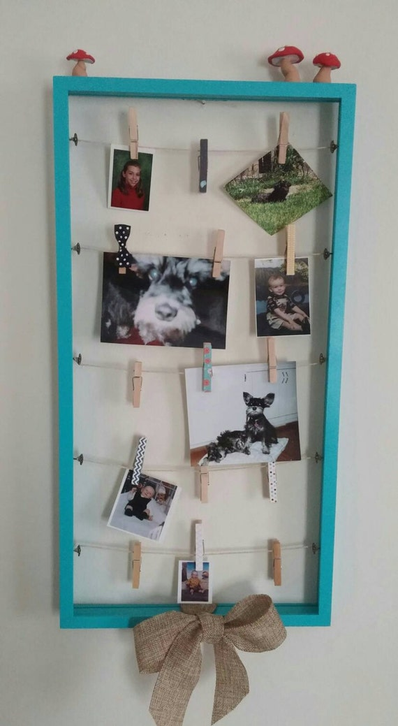 Clothespin Picture Frame Clothesline Picture Organizer Etsy