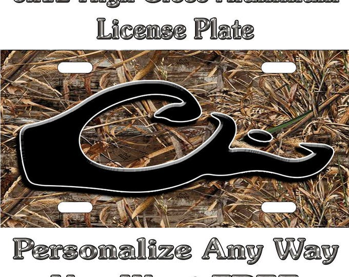 55bf4139ae06 Camo Camouflage Drake Hunting Sign Custom Monogram License Plate Auto Car  Tag Personalize Background Wallpaper Aluminum
