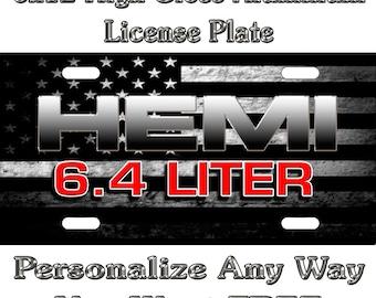 Laser Acrylic Dodge Jeep Hemi License Plate Frame 3D Novelty Tag Mopar