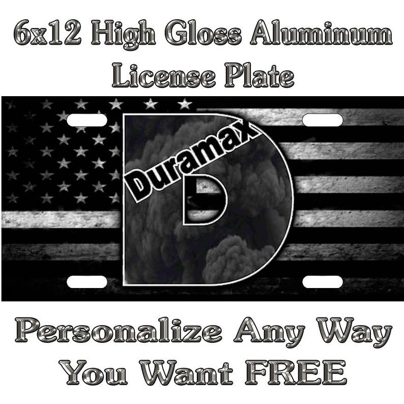 Duramax Tattered Black And White Flag Sign Custom Monogram Etsy