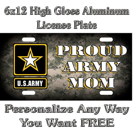 "Army Novelty License Plate Car Tag 6"" x 12"" U.S"