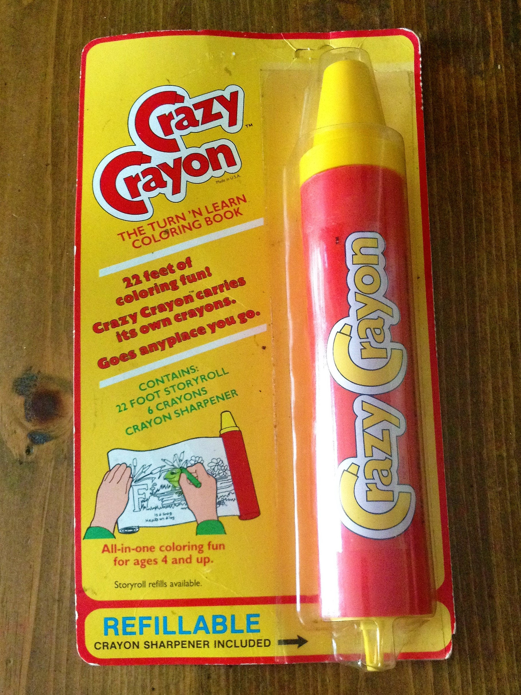 Vintage Crazy Crayon Turn & Learn Coloring Pages Toy Book | Etsy
