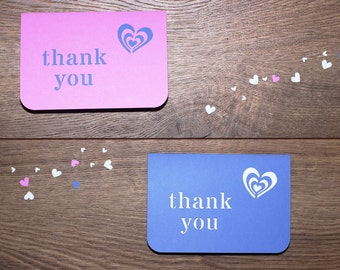 Wedding Thank You Card - Our Hearts Collection - sample