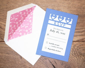 Wedding RSVP - Our Hearts Collection - sample