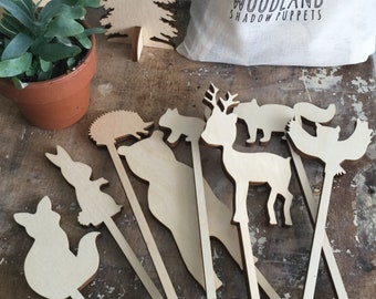 Woodland Shadow Puppets by MTN GRL Studio