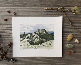 Giclee print, Mansfield I, Green Mountains, Vermont by Zarabeth Duell
