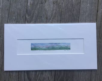 Original Watercolor, Long Trail: Division I + II, Green Mountains, Vermont by Zarabeth Duell