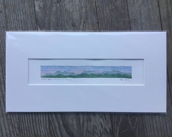 Original Watercolor, Long Trail: Division XI + XII, Green Mountains, Vermont by Zarabeth Duell