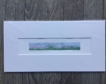 Original Watercolor, Long Trail: Division V + VI, Green Mountains, Vermont by Zarabeth Duell