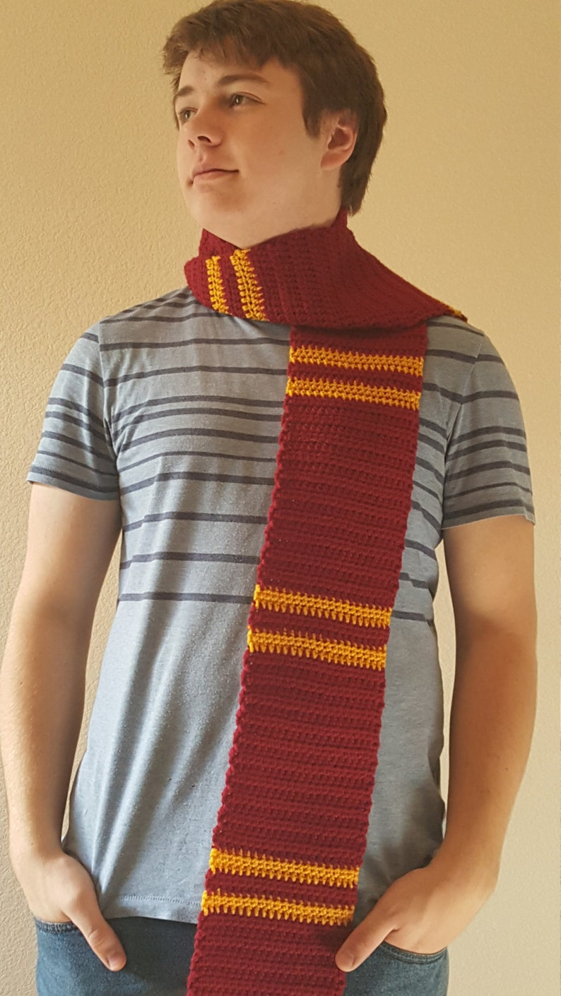055d0951b4e Inspired by Harry Potter Gryffindor Colors Scarf Scarlet and